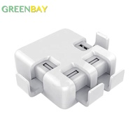 Portable 4 USB Port 5V 4A 20W for Samsung Mobile Wall Charger