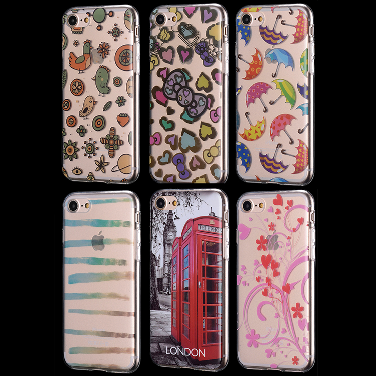 MOQ=50pcs! Custom design full color printing tpu mobile phone case for iphone 6 7