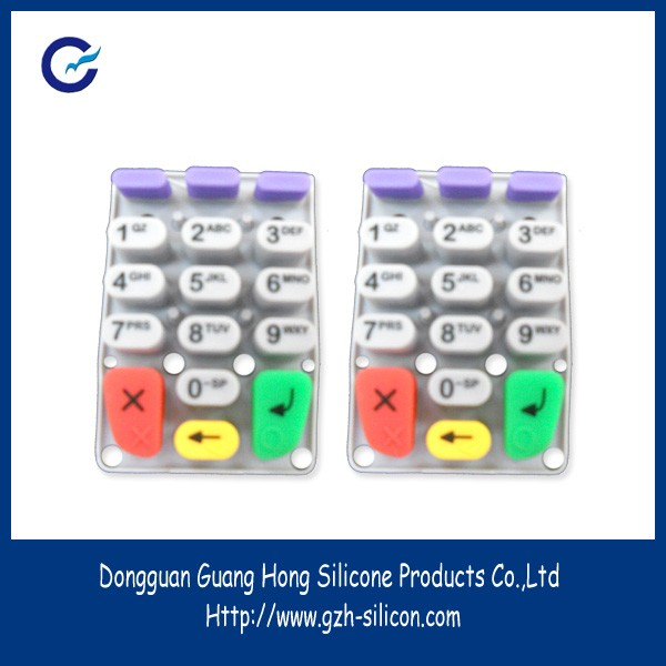 Silica gel keypad plastic instrument housing for access control