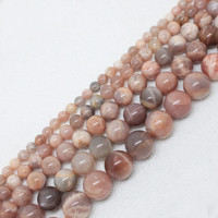 4mm to 18mm Natural Sunstone Beads For Jewelry Making