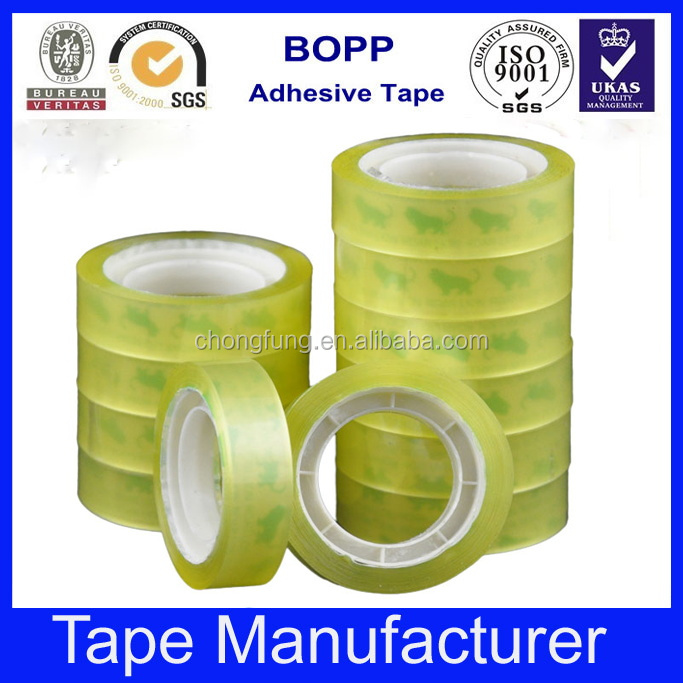 School and office use clear stationary tape bag sealing tape