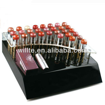 2013 popular high end acrylic lipstick display rack/shelf