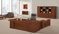 High quality antique wood executive office desk furniture for american market(FOH-A3524)