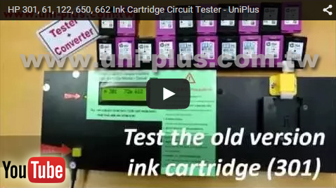 Third party brand cartridge tester for hp 662 650 inkjet ink cartridge refill machine