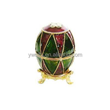 2014 New fashion christmas metal Easter Egg Jewelry Box from china yiwu qifu manufacturer(QF716)