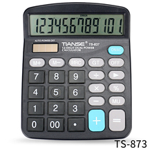 TIANSE Solar power dual power supply Multi-functional electronic calculator TS-837