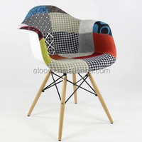 fabric wood leg living room fashion chair coffee chair dining chair