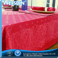 Damask Fabric wholesale Plain table cover of rubber
