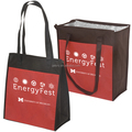 80gsm non-woven polypropylene Insulated Grocery Tote bag,zip-top closure cooler bag