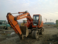 Korea made used doosan wheel excavator for sale / cheap doosan tyre excavator
