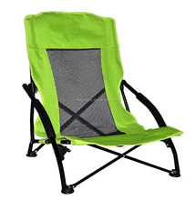 Low Sling Beach Camping Folding Chair with Mesh Back