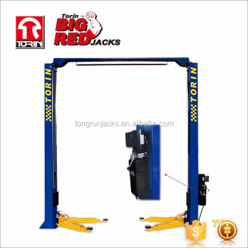 Tongrun Big Red 3 Ton clearfloor two Post Car Lift hoist