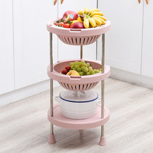 New type kitchen plastic <strong>fruit</strong> and vegetable storage basket shelf