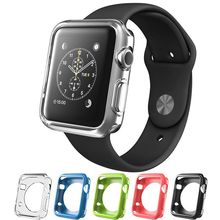 Luxury crystal ultra thin hard plastic case protective transparent back cover for apple watch Standard/Sport/Edition 38mm 42mm