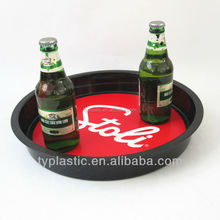 Non-slip stackable foodgrade plastic serving tray