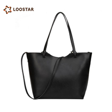 Women's Vintage Leather Tote Shoulder Bag Handbag with inner bag