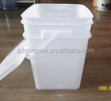 wholesale 5 gallon white plastic buckets with lid and handle