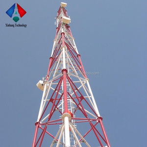 Triangular microwave transmission tower telecom tower telecommunication tower