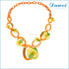wholesale cheap acrylic flower chain statement necklace jewelry in canada
