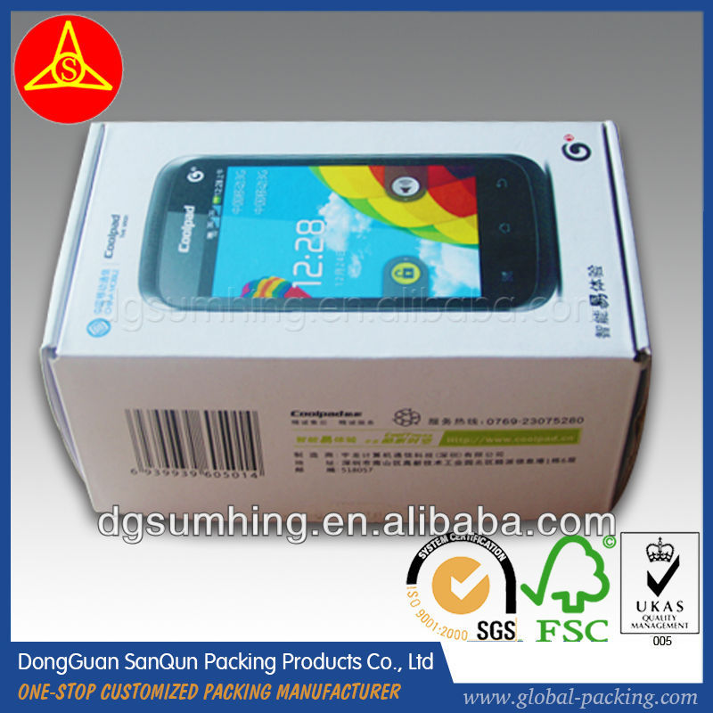 high quality Phone packing box phone unlocking box printed