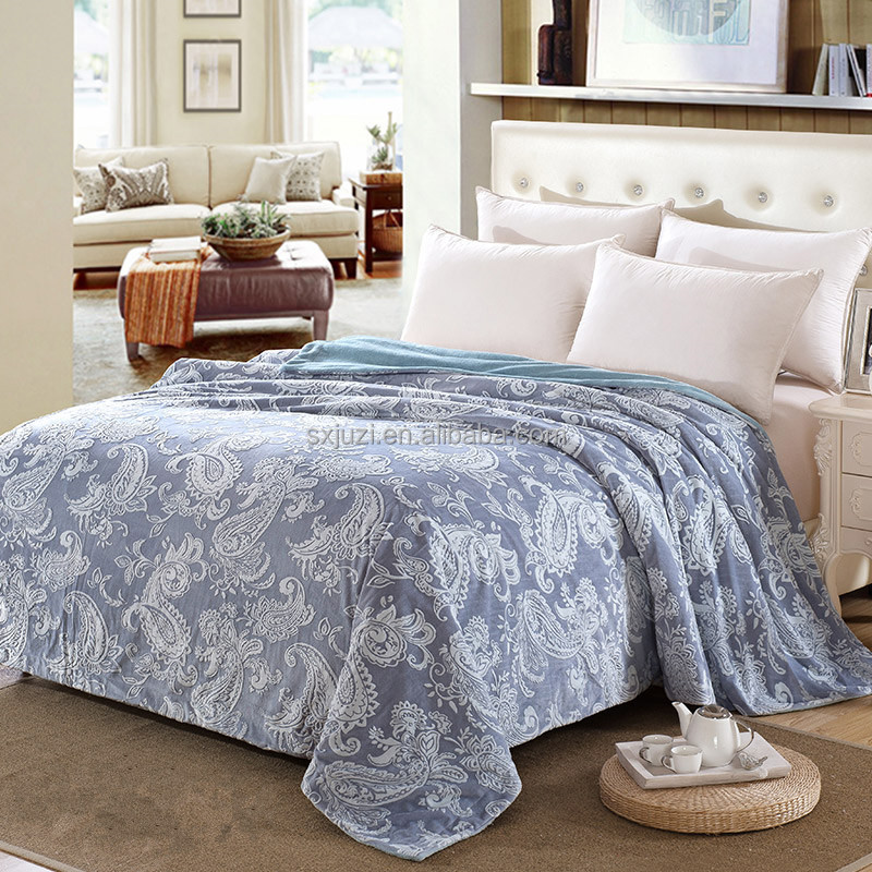 100% Polyester Good Quality Embossed Blanket Jacquard blanket