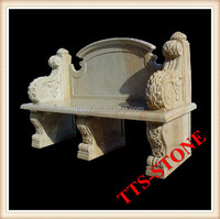 Carved marble sandstone bench for outdoor seating