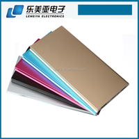 New Fashion Ultra Thin Credit Card Power Bank 10000 mAh Metal OEM Mobile Phone Charger