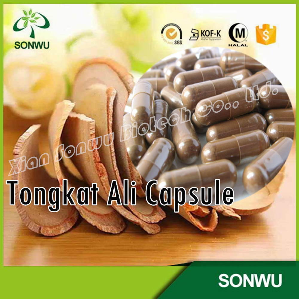 OEM tongkat ali 200:1/tongkat ali capsule/bottle packing capsules