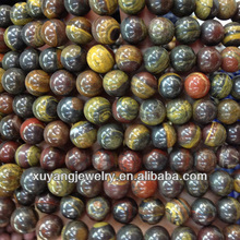 Natural iron tiger eye stone beads wholesale (AB1482)