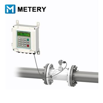 Fixed ultrasonic water flow meter wall mounted for liquid