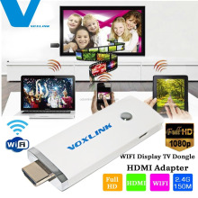 Voxlink 2.4G 150M 1080P WIFI Display Dongle HDMI Adapter, white color hdmi wireless dongle