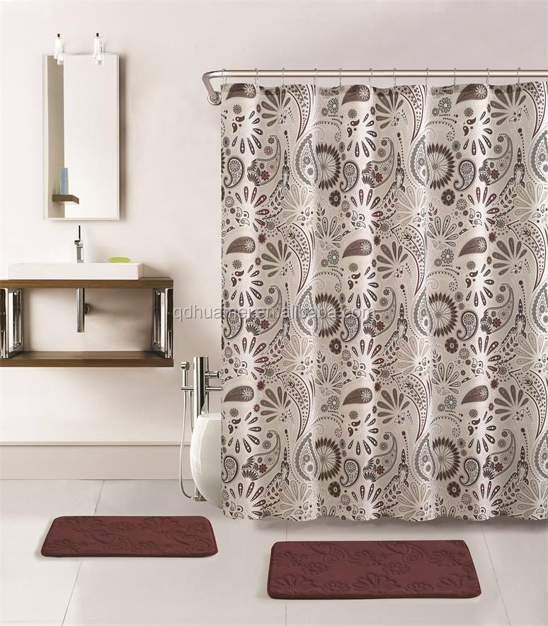 Polyester Custom Hotel Hookless Shower Curtain Buy Polyester Shower Curtain Custom Showre