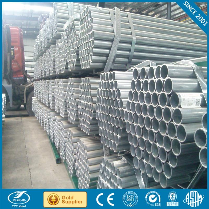 Manufacturer erw welded hot dipped galvanized round steel pipe Tianjin machinery