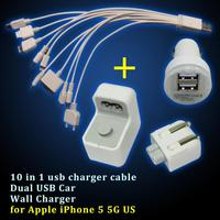 usb charger 10 in 1 portable multi usb phone charger cable