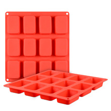 Best selling products 2017 in usa 12 cavity rectangle silicone soap molds custom silicone molds bar soap molds
