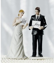 2014 Hot Selling ! Read My Sign - Bride and Groom Figurine