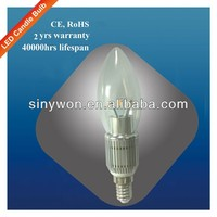 SYW 2014 new product 360 degree e27 e12 e14 clear e14 led bulb candle