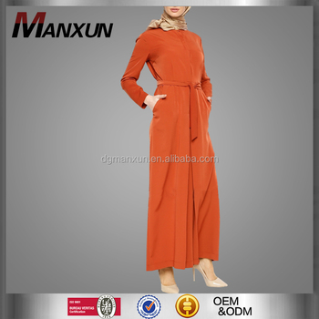 New Design Fashion Ladies Muslim Clothing Style Jumpsuit Classic Look Model Kebaya With Belt Islamic Jumpsuit For Women