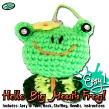 DIY big mouth frog crochet animal toy kit