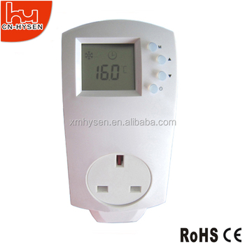 Adjustable thermostat for controlling home heater