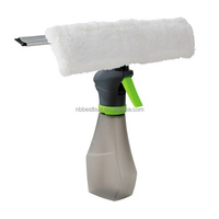 Spray Window Cleaner With Double Sided Microfiber And Rubber Squeegee