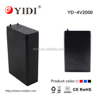 Low Price High Quality 4v 2ah rechargeable valve regulated sealed lead acid battery