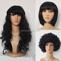 MCW-0099 Cheap fashion funny black Party wig, carnival halloween wig for women