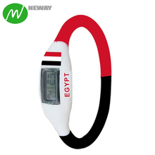 2018 Country Flag Customized Personalized Silicon Wrist Watch