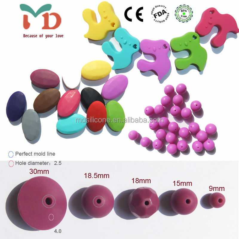 Silicone Teething Beads for Jewelry BPA Free Silicone beads for Baby