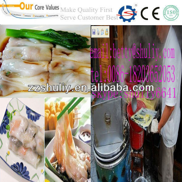 low price steamed vermicelli roll machine/new design rice roll steamed machine