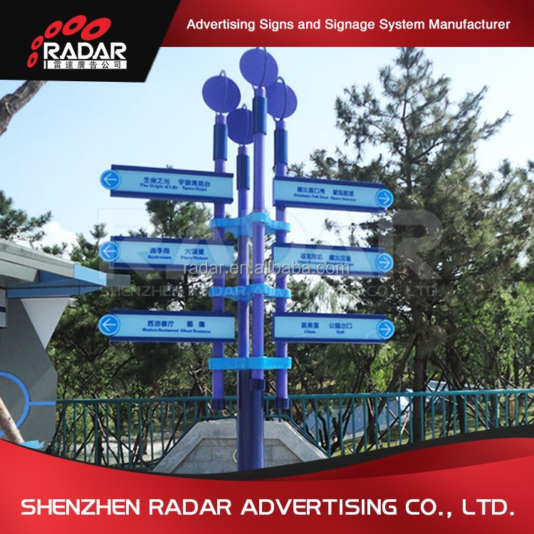 Outdoor directional signs directory way finding signage