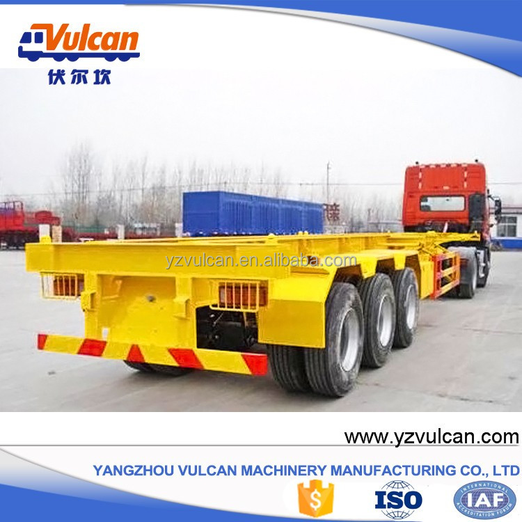 China manufacturer sale shipping 20ft 40ft container dolly semi trailer