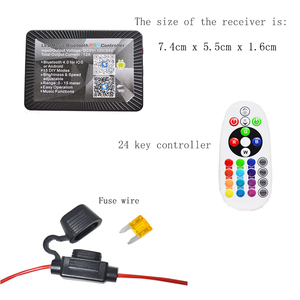 Dc12v waterproof Ip 68 Cell phone Bluetooth LED Music RGB Controler 4.0 for Motorcycle or Auto