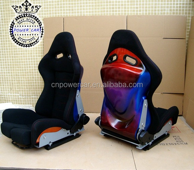 Cool Carbon Glass Racing Seat SPS Car Seat With Adjustable Plate